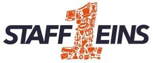 StaffEins Logo in Schwarz und Orange